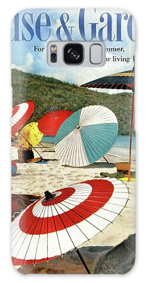 Exterior Galaxy S8 Case featuring the photograph House And Garden Featuring Umbrellas On A Beach by Otto Maya & Jess Brown