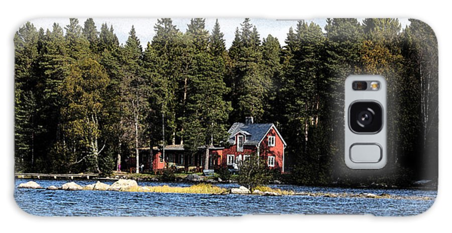 Autumn Galaxy S8 Case featuring the painting House By The Lake by Frederick Kjorling