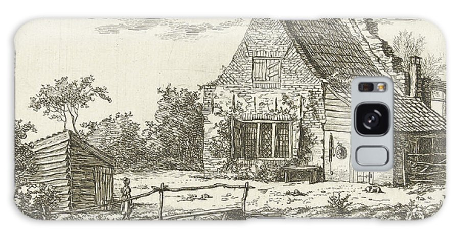 1802 Galaxy S8 Case featuring the drawing House Snaatburg Maarssen, The Netherlands by Artokoloro
