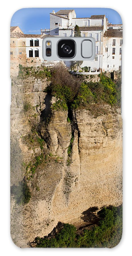 Ronda Galaxy S8 Case featuring the photograph Houses On Rock In Ronda by Artur Bogacki