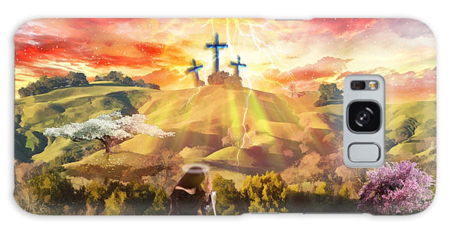 Victory Over Death Galaxy S8 Case featuring the digital art How Love Won by Dolores Develde