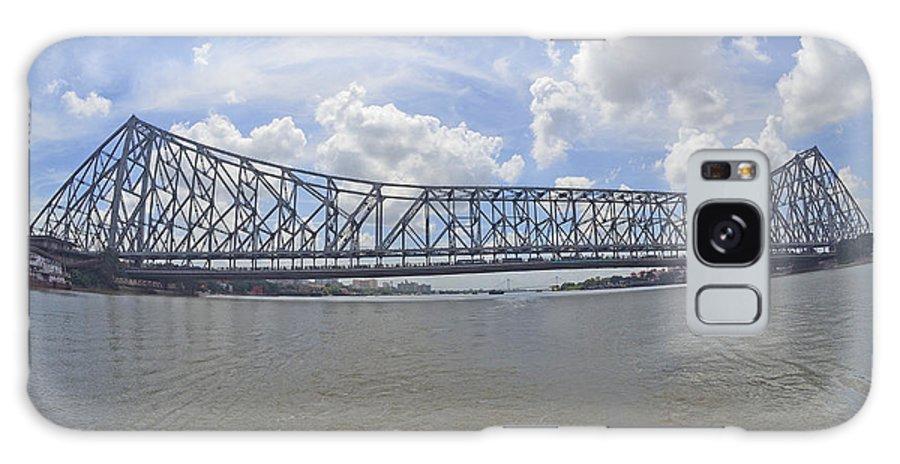 Howrah Galaxy S8 Case featuring the photograph Howrah Bridge by Bhaswaran Bhattacharya