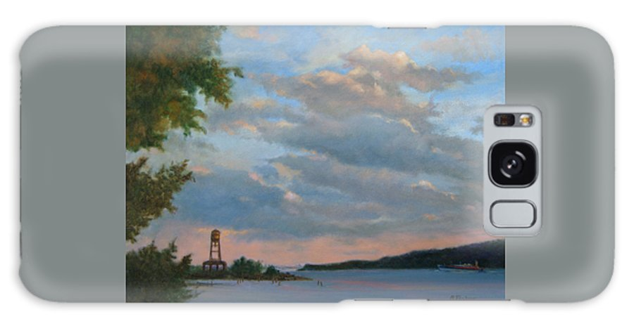 Hudson River Galaxy S8 Case featuring the painting Hudson River Skyscape by Phyllis Tarlow