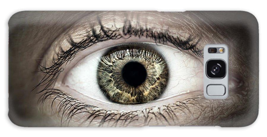 Eye Galaxy S8 Case featuring the photograph Human Eye Macro by Elena Elisseeva