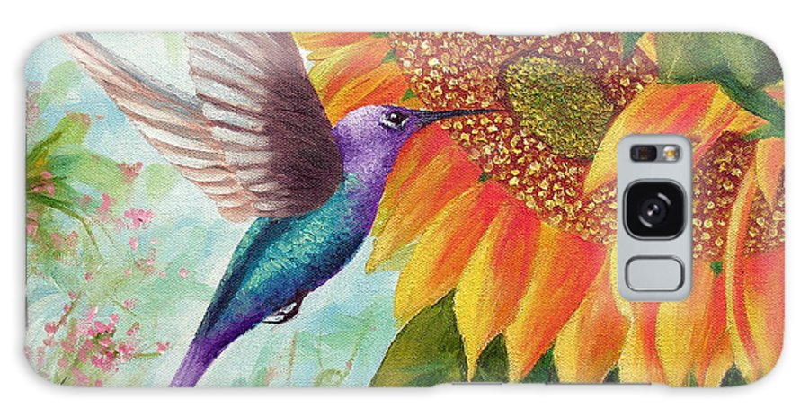 Hummingbird Galaxy S8 Case featuring the painting Humming For Nectar by David G Paul