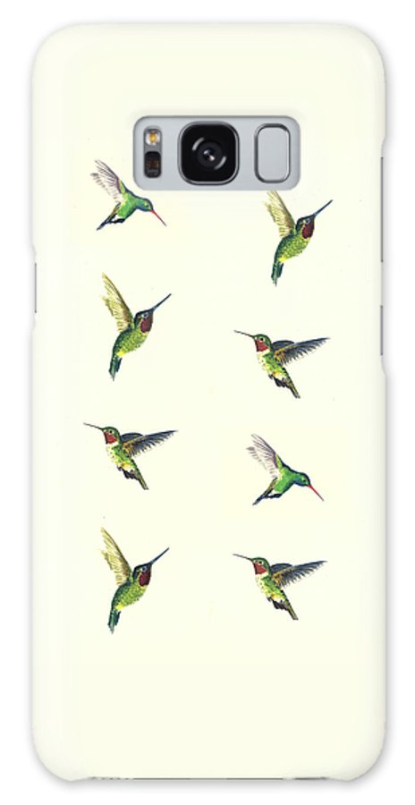 Hummingbirds Galaxy S8 Case featuring the painting Hummingbirds by Michael Vigliotti