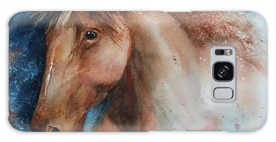 Horse Galaxy S8 Case featuring the painting Hunter by Ruth Kamenev