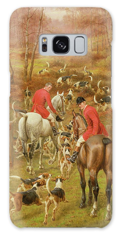 Horse Galaxy S8 Case featuring the painting Hunting Scene, 1906 by Edward Algernon Stuart Douglas