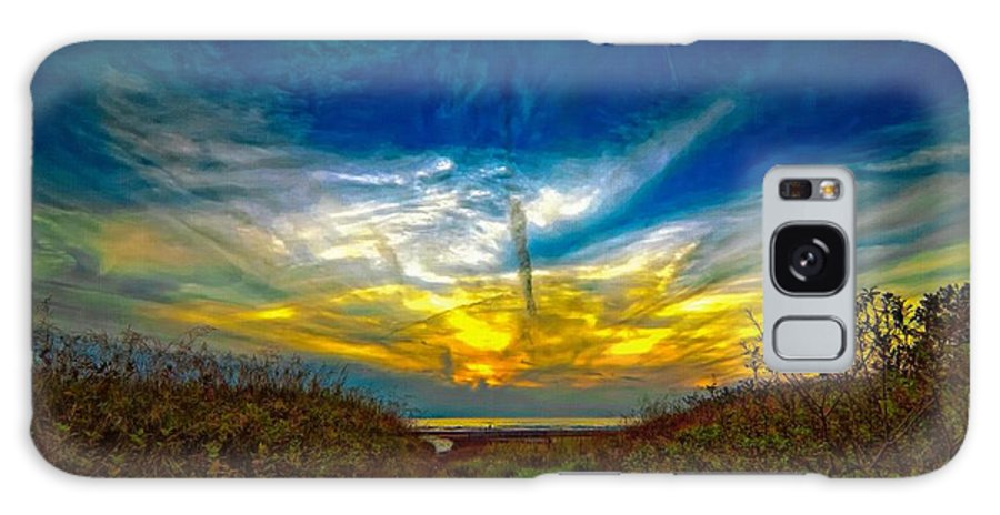 Sunset Galaxy S8 Case featuring the photograph Huron Evening 2 Oil by Steve Harrington
