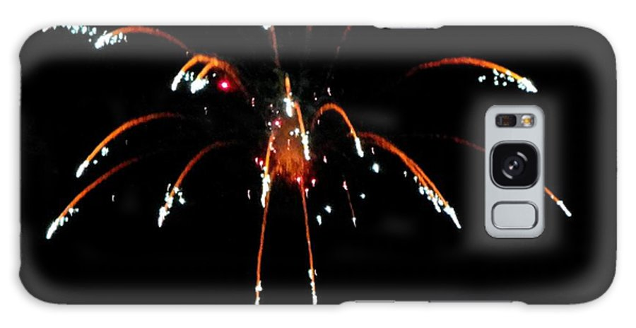 Huron Galaxy S8 Case featuring the mixed media Huron Ohio Fireworks 11 by Jackie Bodnar