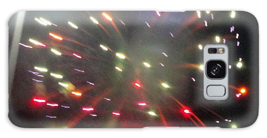 Huron Galaxy S8 Case featuring the mixed media Huron Ohio Fireworks1 by Jackie Bodnar