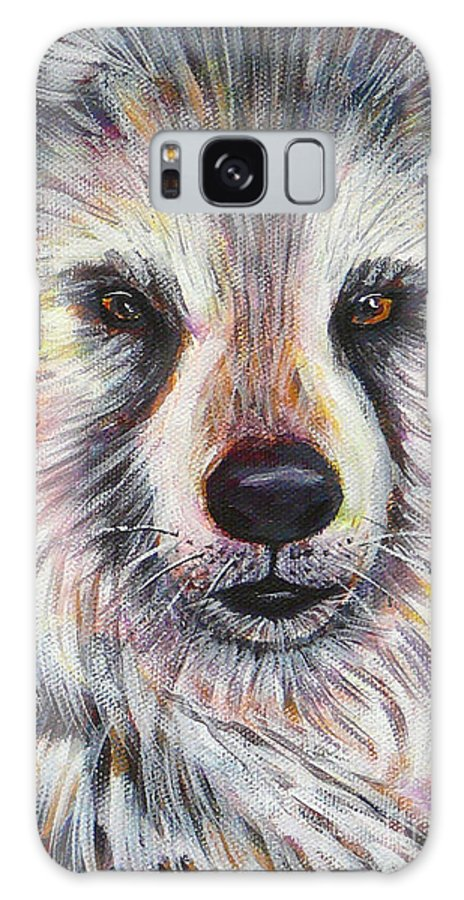 Husky Galaxy S8 Case featuring the painting Husky Wolf by Gayle Utter