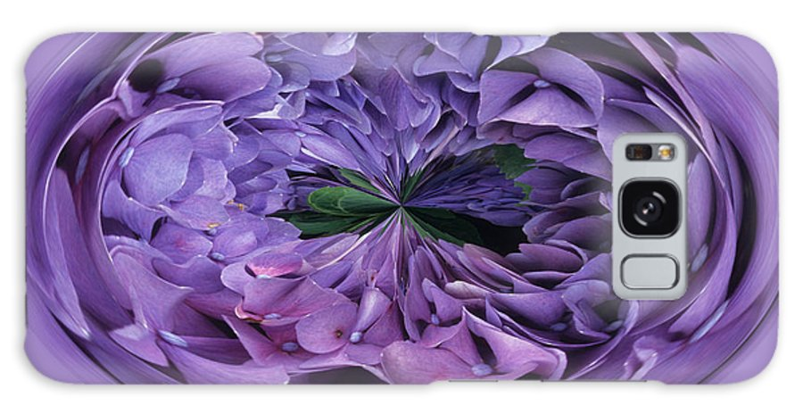 Abstract Galaxy Case featuring the photograph Hydrangea Abstract by Keith Gondron