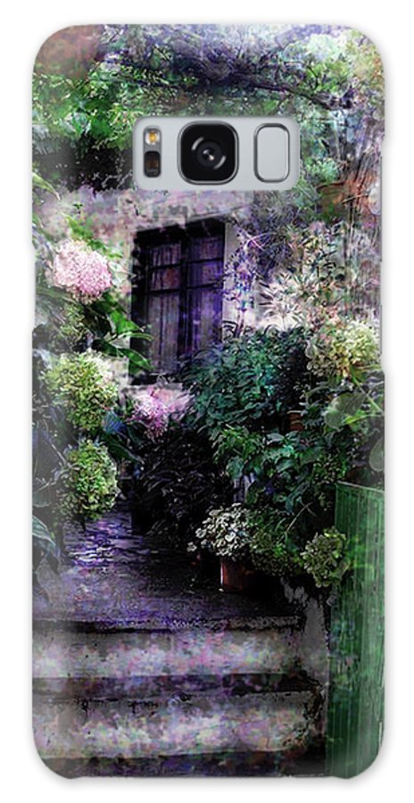 Seascape Photography Photographs Iphone Cases Galaxy S8 Case featuring the photograph Hydrangeas In Rhodes by Judy Paleologos
