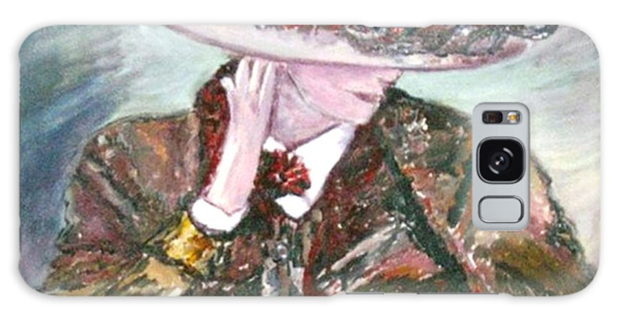 Figurative Galaxy S8 Case featuring the painting I Borrowed My Mother's Hat by Helena Bebirian