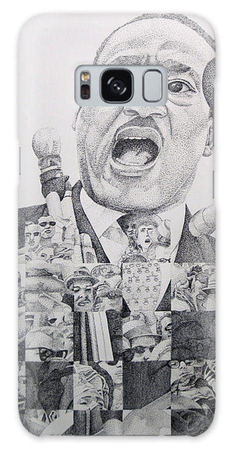 Martin Luther King Galaxy S8 Case featuring the drawing Martin Luther King-i Have A Dream by Joshua Morton