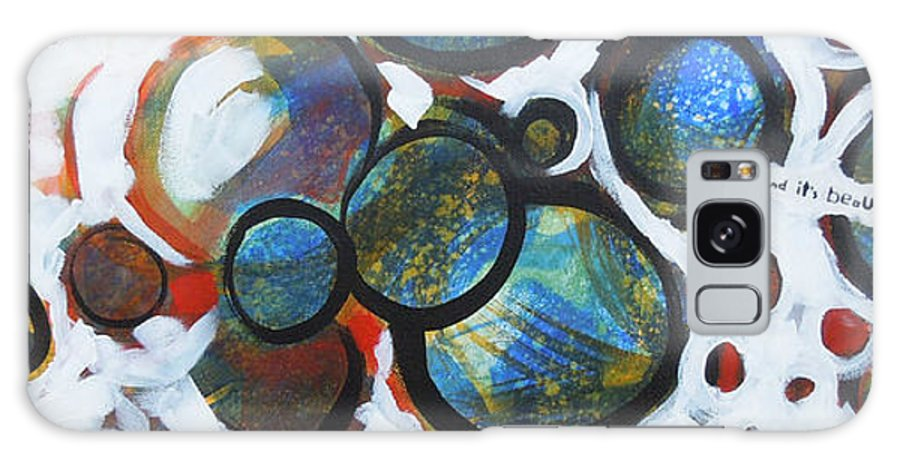 Circles Galaxy S8 Case featuring the painting I Know What You Look Like by Tonya Henderson