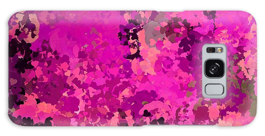 Pink Galaxy S8 Case featuring the painting I Love Pink by Bruce Nutting