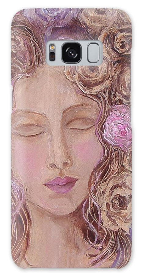 Copyrighted Work Galaxy S8 Case featuring the painting I Want To Kiss Me by Nina Mitkova