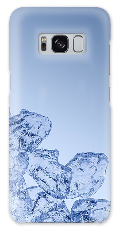 Water Galaxy S8 Case featuring the photograph Ice Background With Copyspace by Pablo Romero