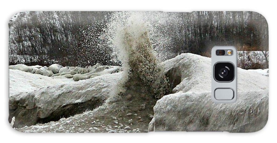 Ice Galaxy S8 Case featuring the photograph Ice Eruption by Joel Rams