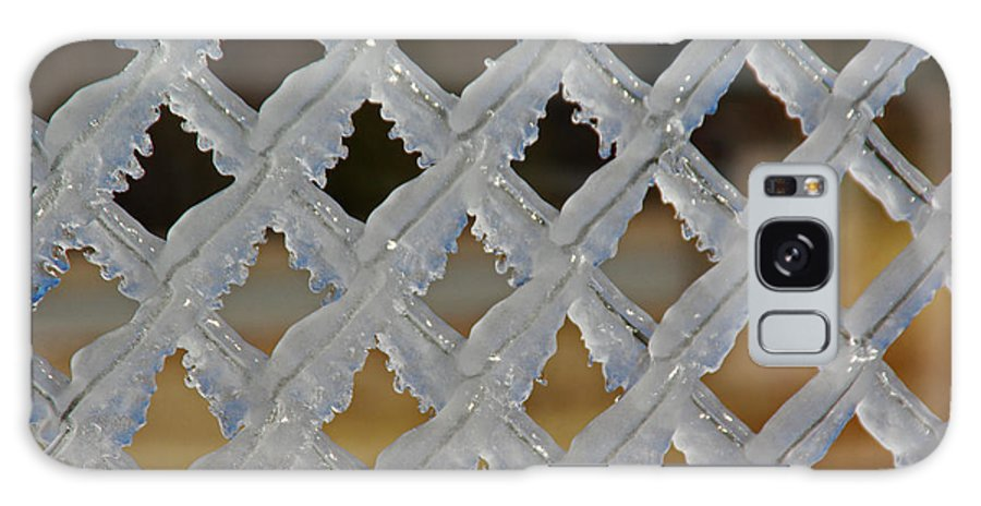 Chain Link Galaxy S8 Case featuring the photograph Ice Fence by Robyn Stacey