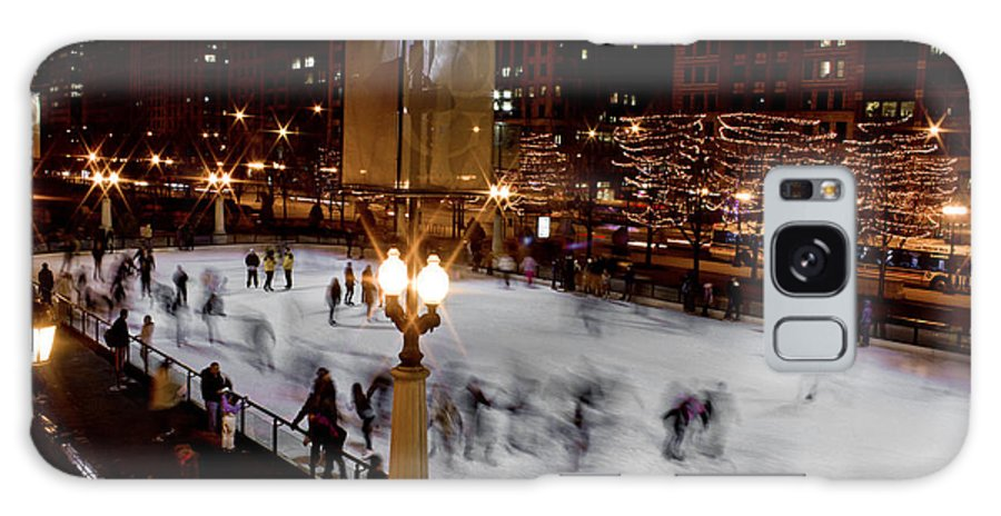 Chicago Galaxy S8 Case featuring the photograph Ice Rink In Chicago by John McGraw