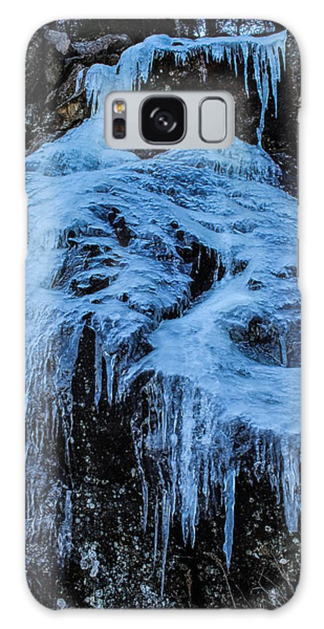 Ice Galaxy S8 Case featuring the photograph Ice Waterfall by Julien Boutin