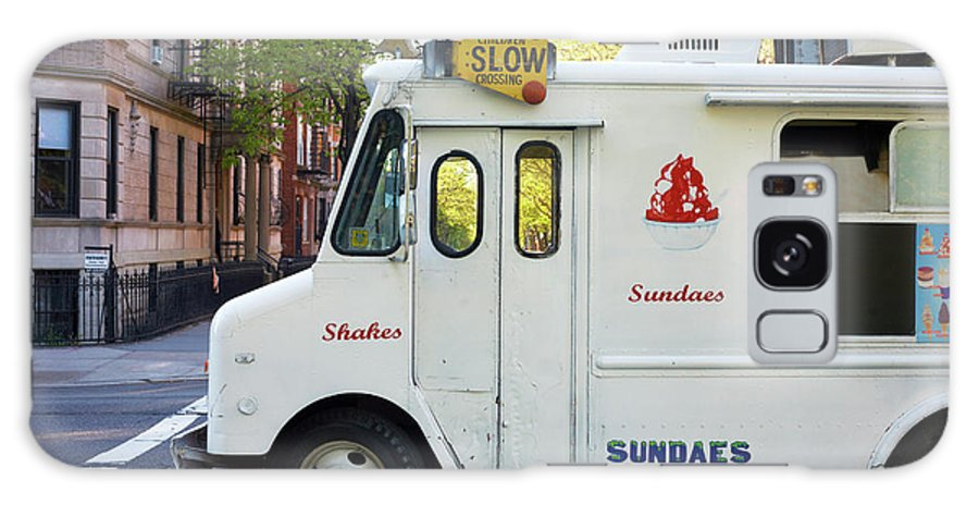 Retail Galaxy Case featuring the photograph Icecream Truck On City Street by Jason Todd