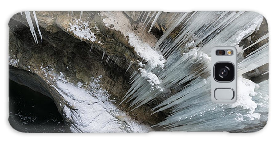 Icicle Galaxy S8 Case featuring the photograph Icicles Hanging In Rocky Gorge In Cold Winter by Matthias Hauser