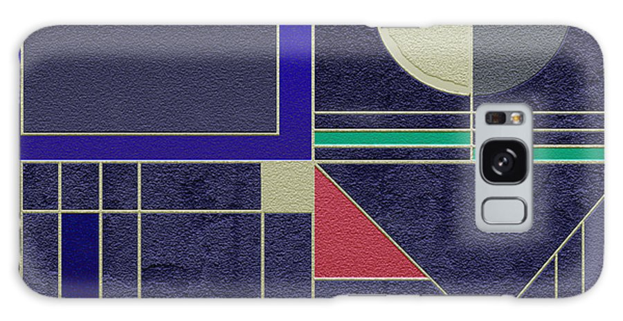 Abstract Galaxy S8 Case featuring the digital art Ideogram 2 Variation 2 by Peach Pair