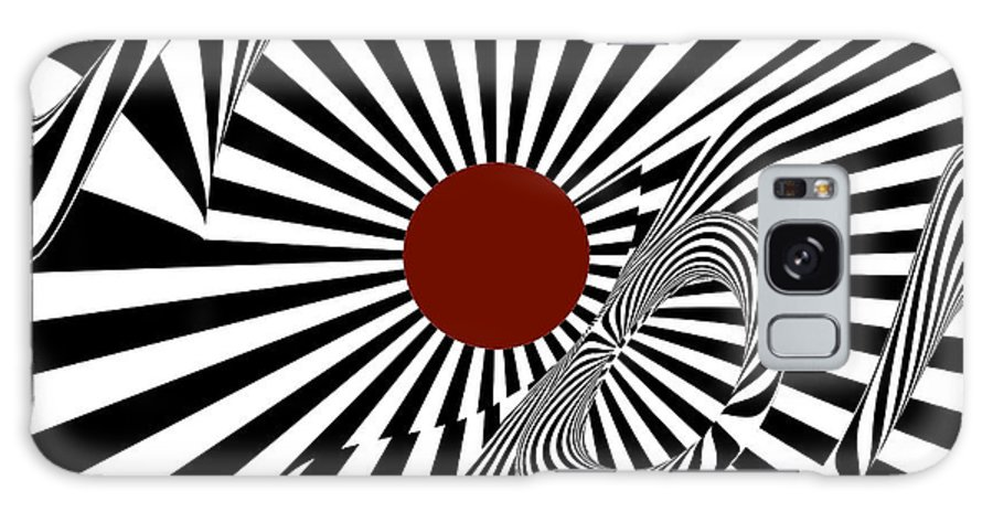 Abstract Galaxy S8 Case featuring the digital art Ideology W/ Red by Alexander Alvarez