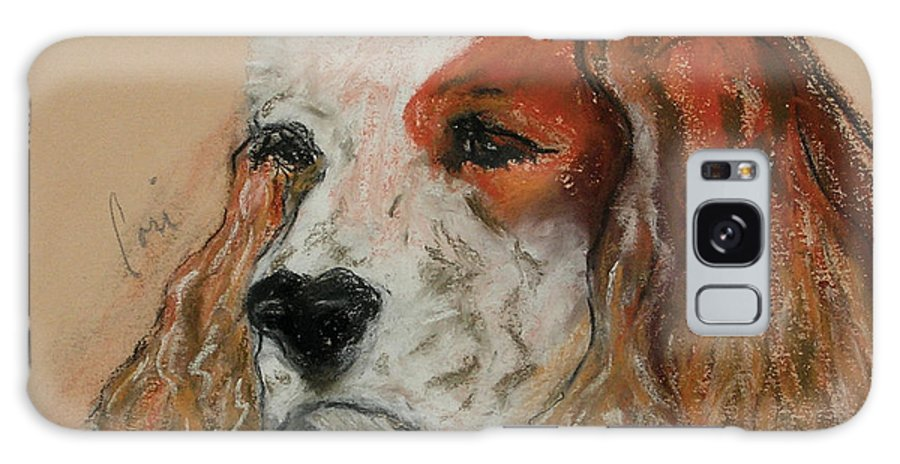 Dog Galaxy S8 Case featuring the pastel Idle Thoughts by Cori Solomon