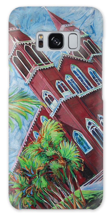 Church Galaxy S8 Case featuring the painting Iglesia Grecia Costa Rica by Jeff Seaberg