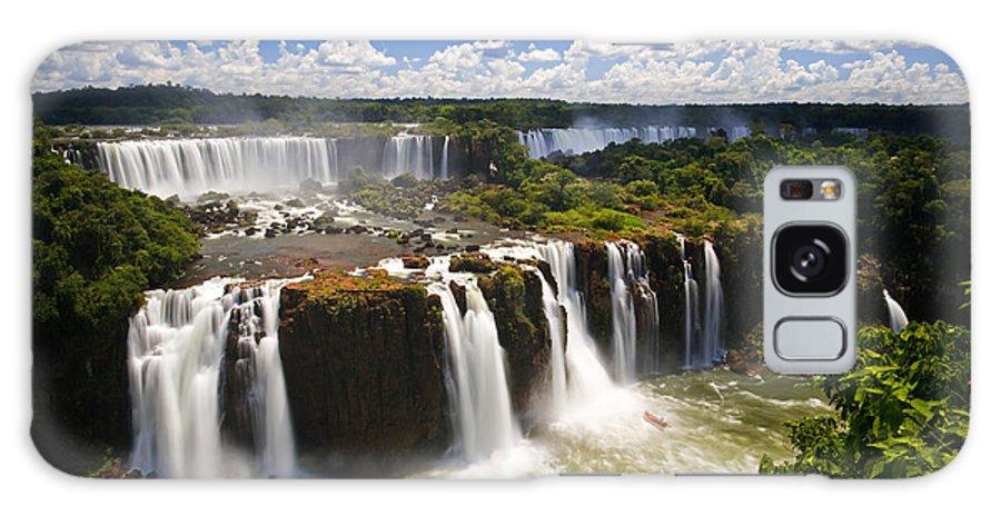 Argentina Galaxy S8 Case featuring the photograph Iguassu Falls by David Davis