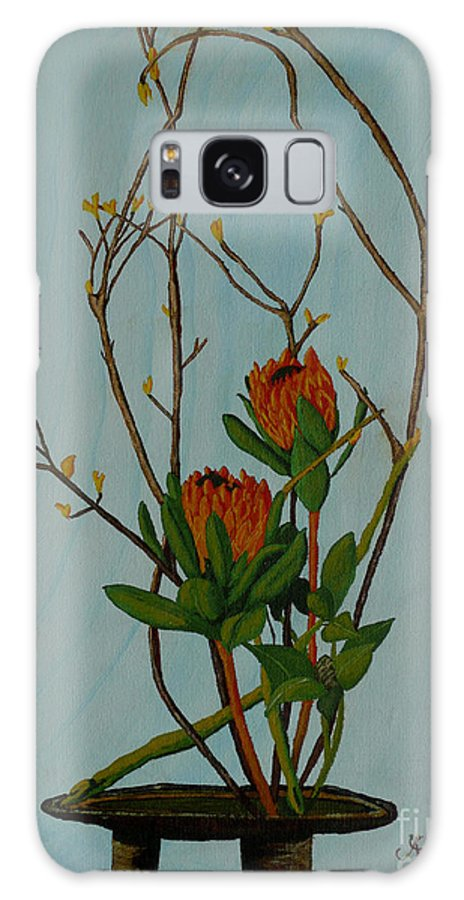 Ikebana Galaxy S8 Case featuring the painting Ikebana Dancers by Anthony Dunphy