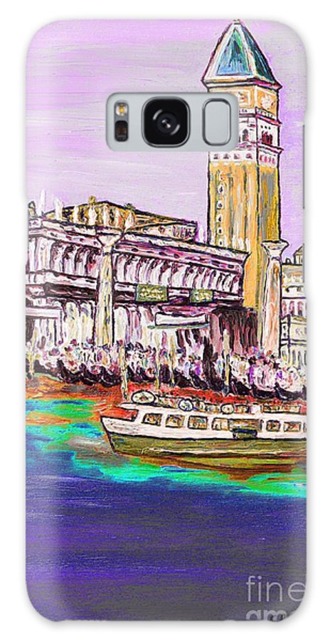 Oil Painting Galaxy S8 Case featuring the painting Il Campanile Di San Marco by Loredana Messina