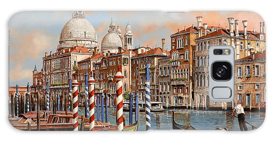 Venice Galaxy S8 Case featuring the painting Il Canal Grande by Guido Borelli