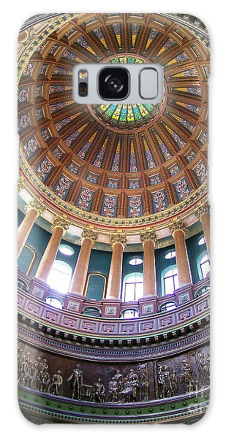 Architecture Galaxy S8 Case featuring the photograph Illinois Capitol Dome by Laurie Eve Loftin