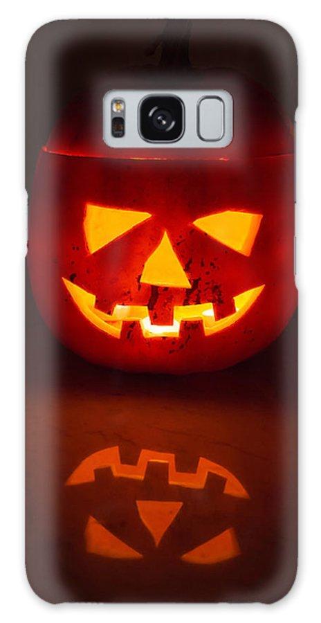 Halloween Galaxy S8 Case featuring the photograph Illuminated Halloween Pumpkin by Frank Gaertner