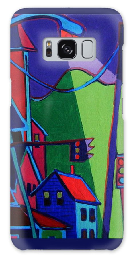 Town Galaxy S8 Case featuring the painting Illumination Chelmsford Center by Debra Bretton Robinson