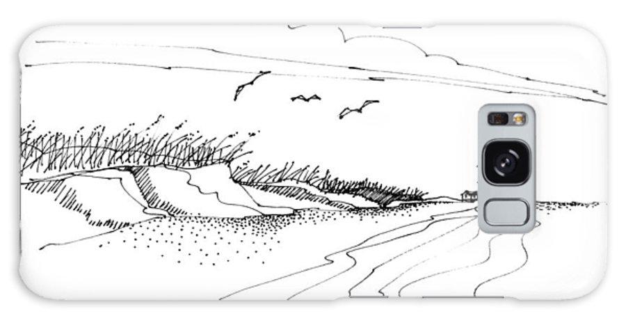 Atlantic Coast Galaxy S8 Case featuring the drawing Imagination 1993 - Atlantic Coast Beach No 2 by Richard Wambach