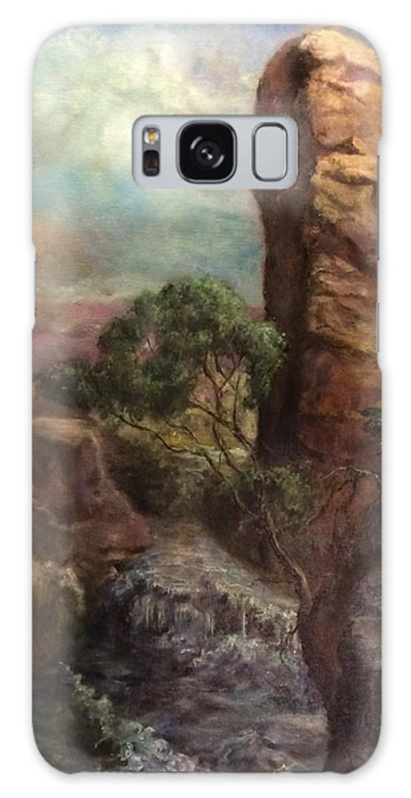 Landscapes Galaxy S8 Case featuring the painting Imagined Landscape #1 by Dan Hammer