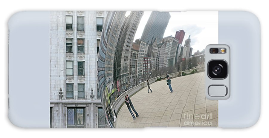 Chicago Galaxy S8 Case featuring the photograph Imaging Chicago by Ann Horn