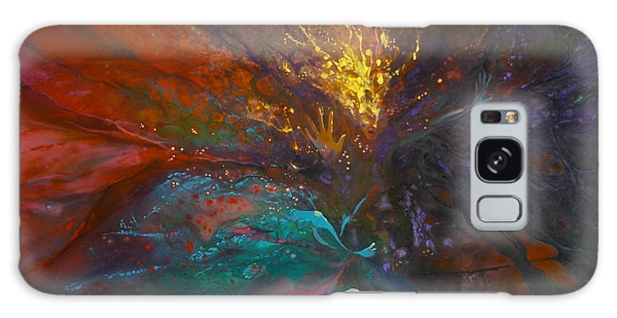 Faeries Galaxy S8 Case featuring the painting Impatiens Explosion by Lynette Yencho