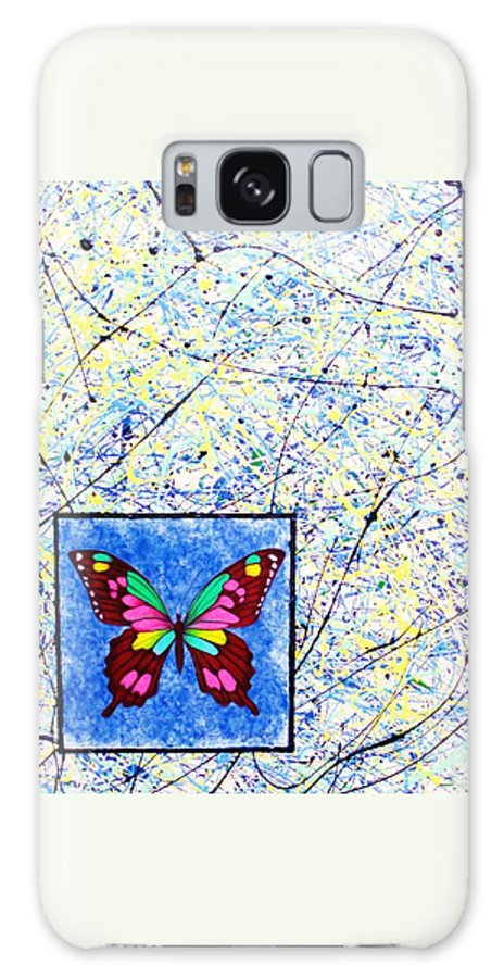 Abstract Galaxy S8 Case featuring the painting Imperfect I by Micah Guenther