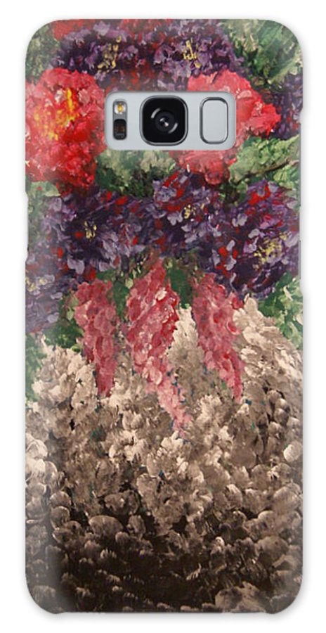 Painting Galaxy S8 Case featuring the painting Impression Flowers by Laurie Pike