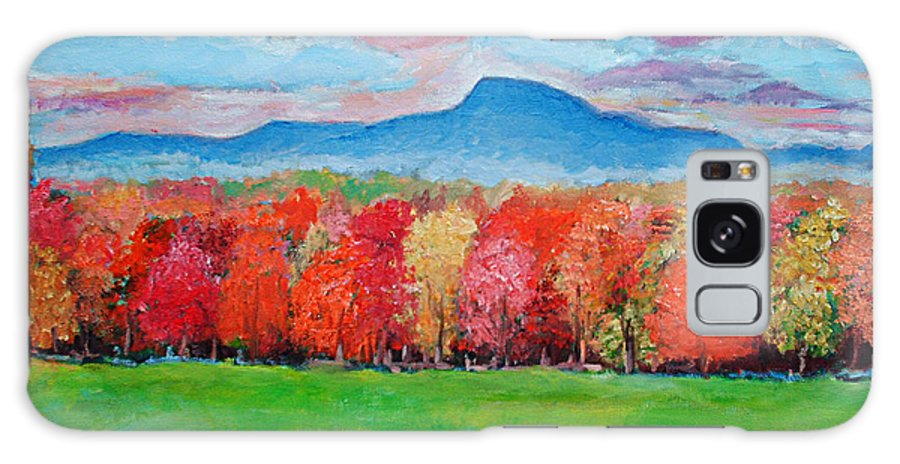 New Jersey Galaxy S8 Case featuring the painting Impressionist New Jersey Autumn by Artist Anthony Renardo Flake