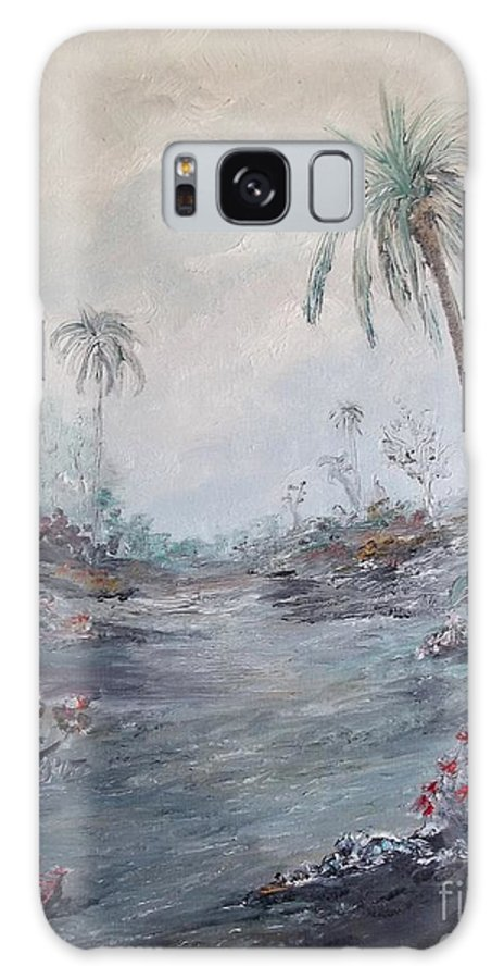 Palm Galaxy S8 Case featuring the painting Impressionistic Palms by Rhonda Lee