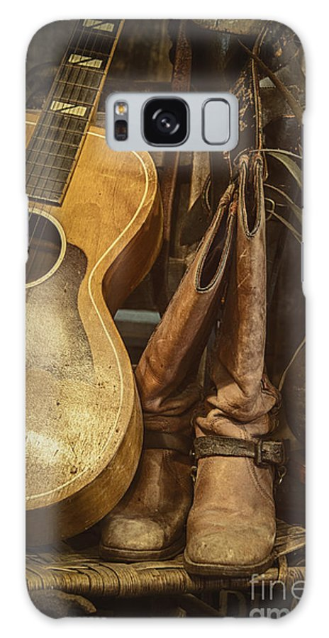 Guitar Galaxy S8 Case featuring the photograph In Cowboys Dreams by Margie Hurwich